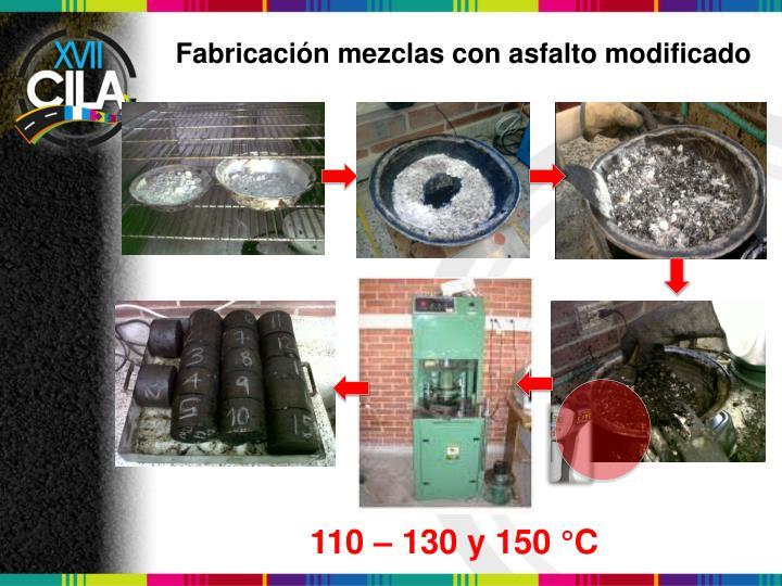 Fabricación mezclas con asfalto modificado