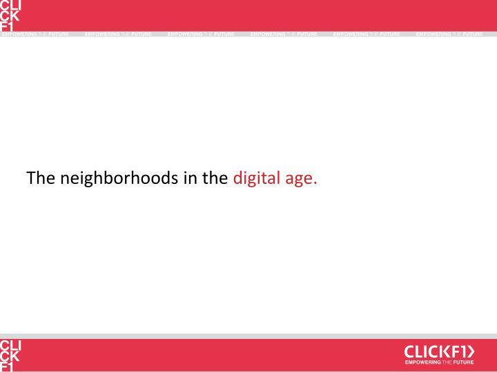 The neighborhoods in the
