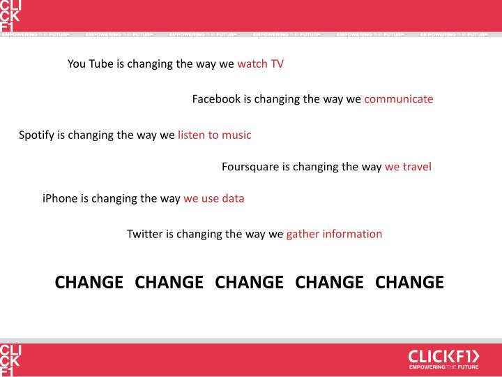 You Tube is changing the way we