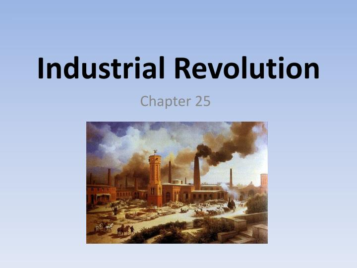 the industrial revolution of great britain