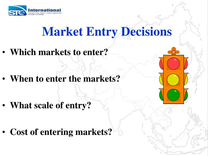 Market entry decisions