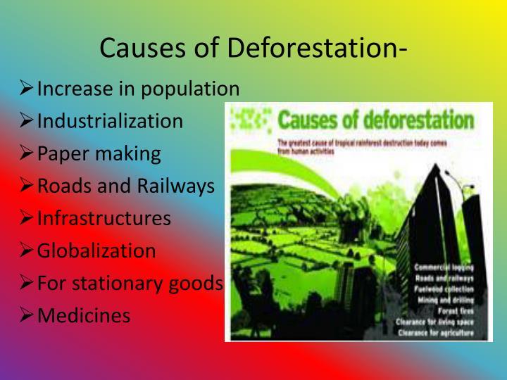 Causes of Deforestation-