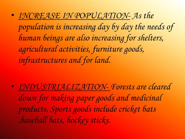 INCREASE IN POPULATION-