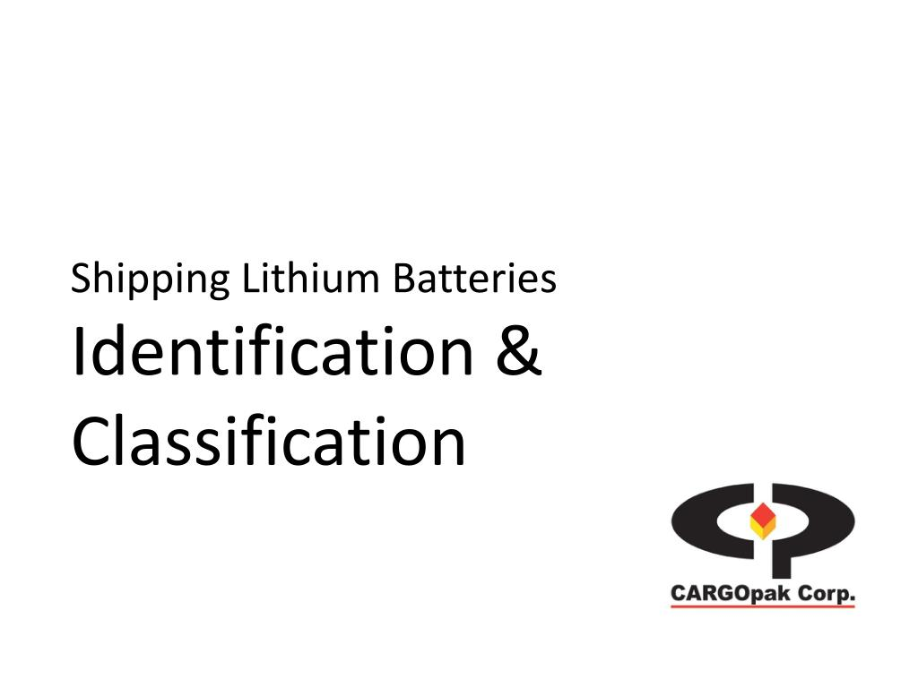 PPT - Shipping Lithium Batteries Course Outline PowerPoint