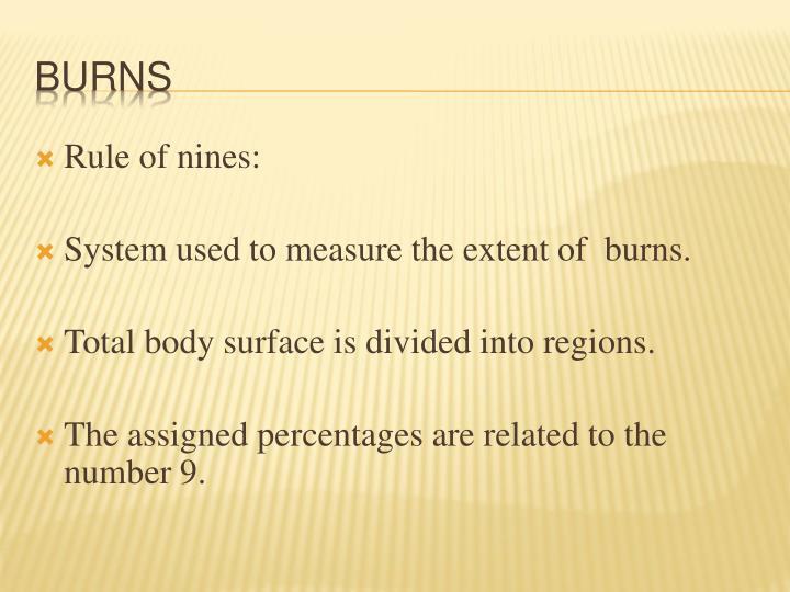 Rule of nines:
