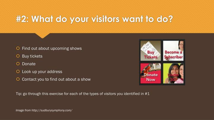#2: What do your visitors want to do?