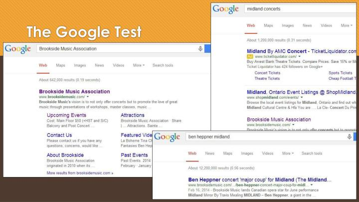 The Google Test