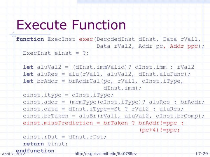 Execute Function