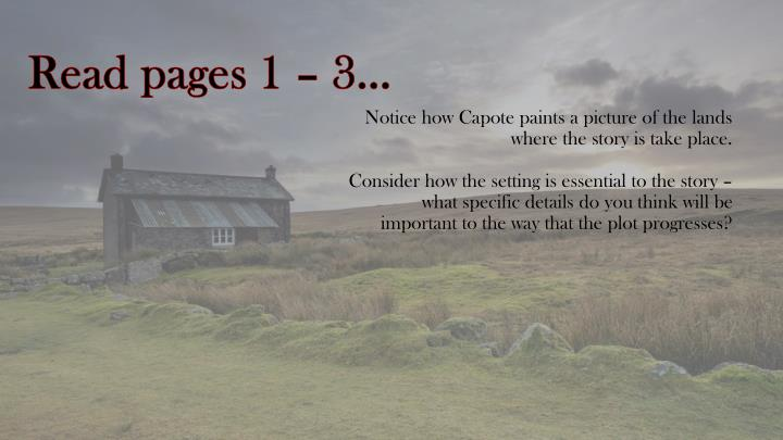Read pages 1 – 3…