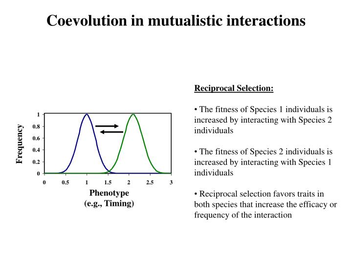 Coevolution in mutualistic interactions