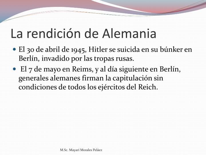 La rendición de Alemania