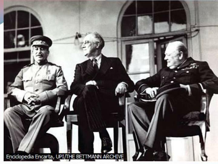 Afinalesdenoviembre, Roosevelt y Churchill viajaron a Teherán (
