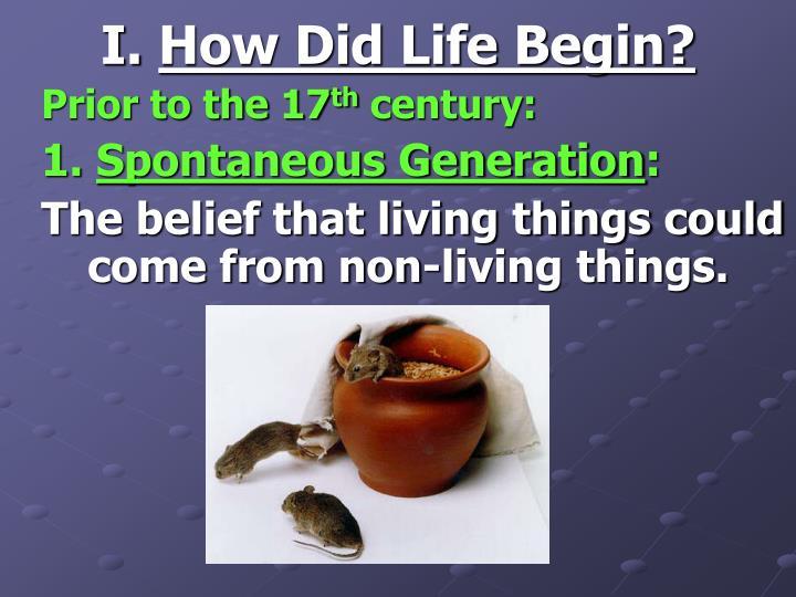 I how did life begin