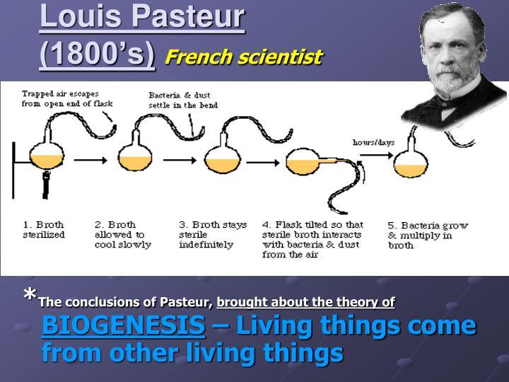 Louis Pasteur (1800's)