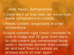heat mover refrigerators
