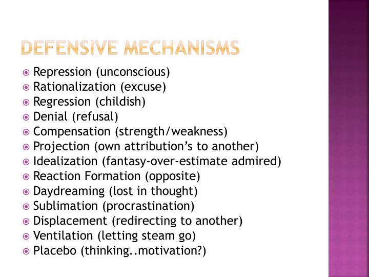 Defensive Mechanisms