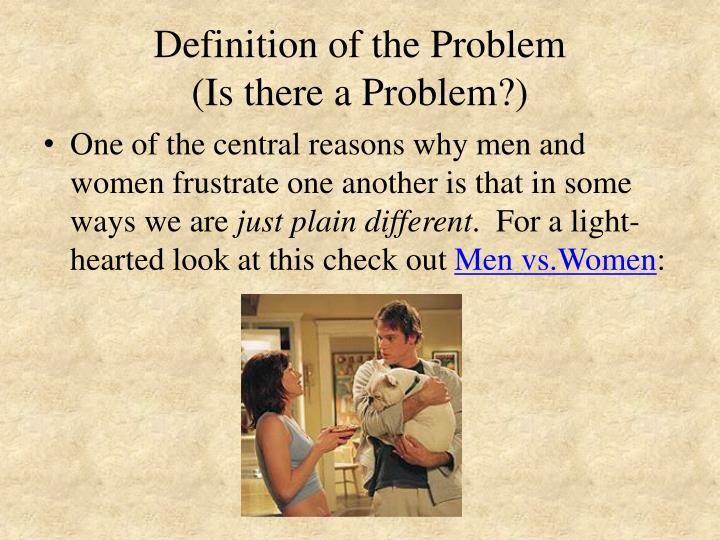 Definition of the Problem