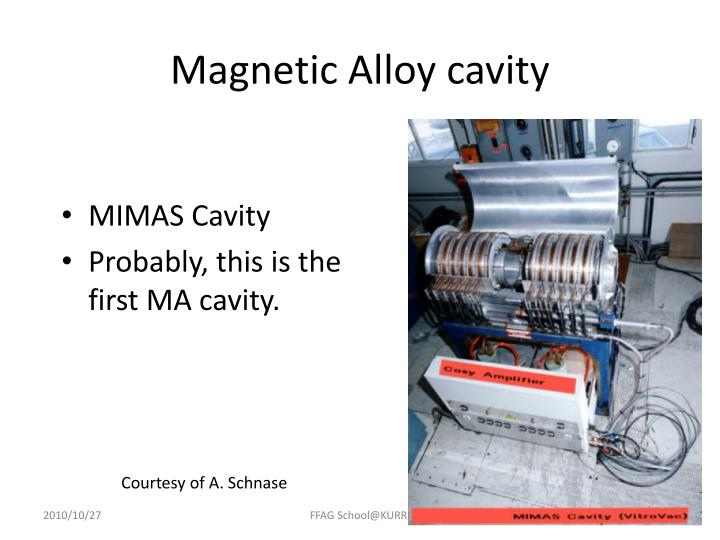 Magnetic Alloy cavity