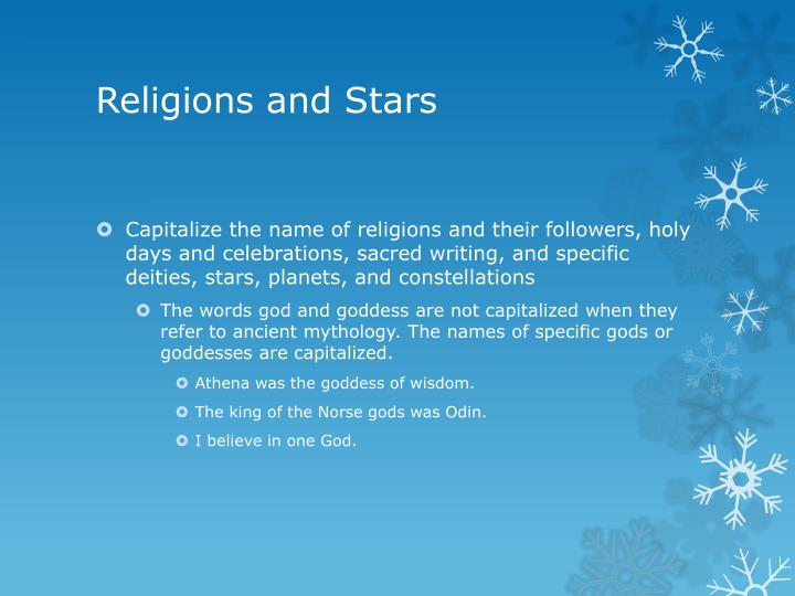 Religions and Stars