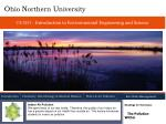 ce 3231 introduction to environmental engineering and science