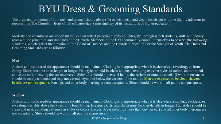 Byu dress grooming standards