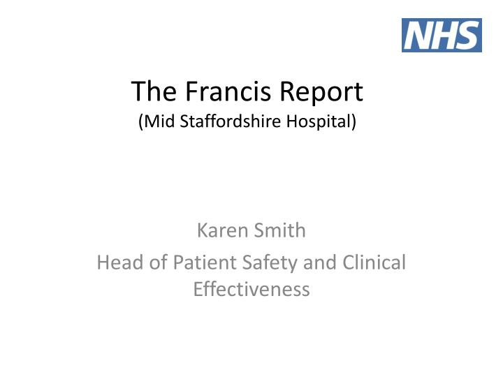 the francis report mid staffordshire hospital n.