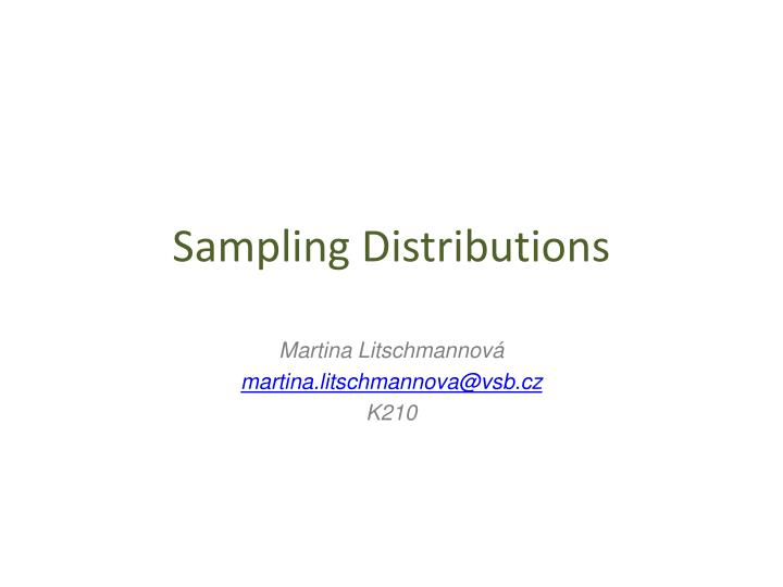 sampling distributions n.