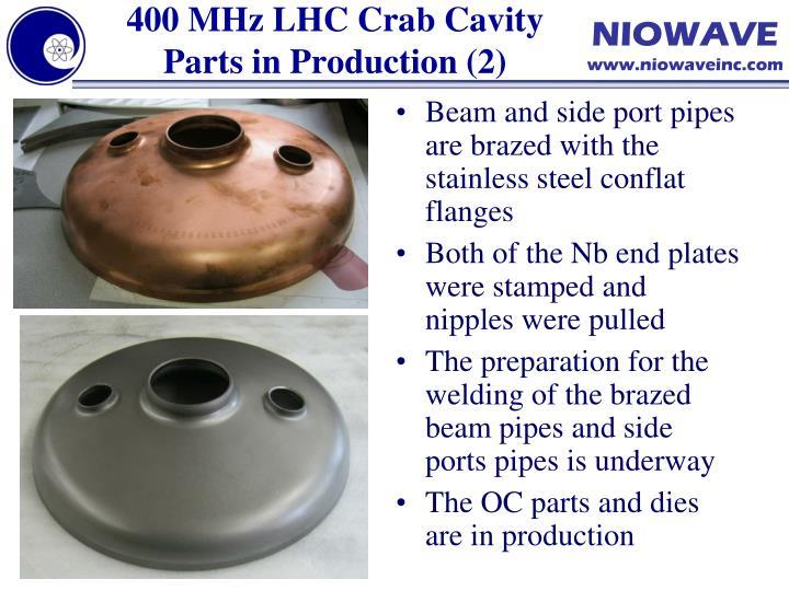 400 MHz LHC Crab Cavity