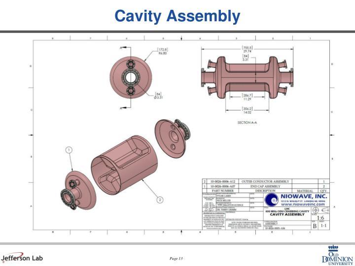 Cavity Assembly