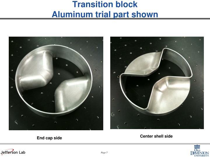 Transition block