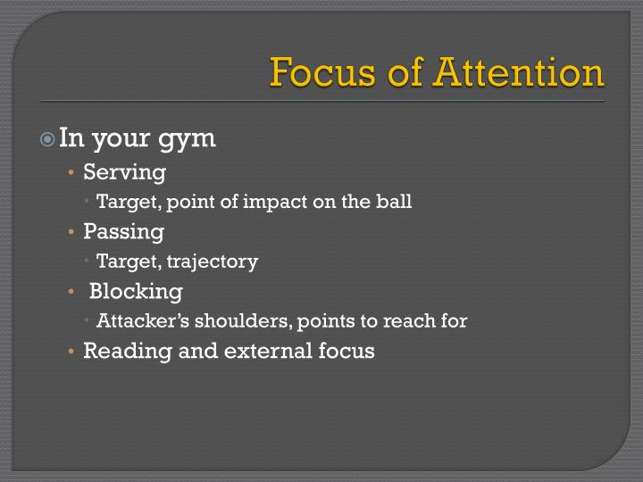 Focus of Attention
