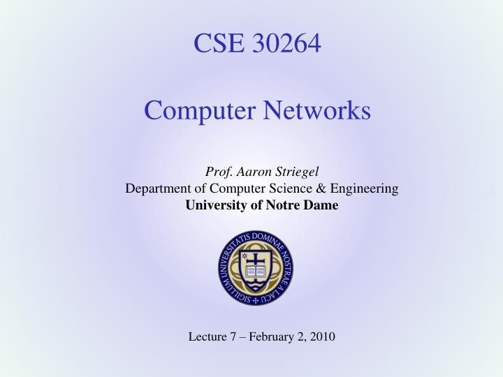 cse 30264 computer networks n.