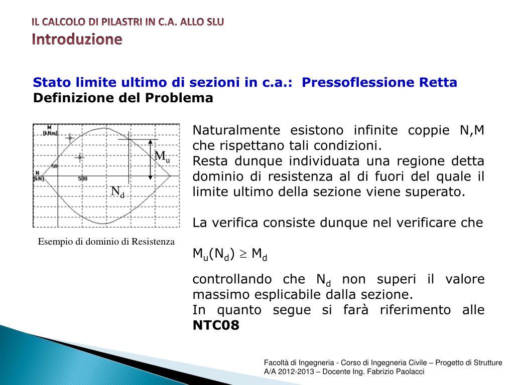 Verifica Stato Limite Ultimo.Ppt Progetto Di Strutture Powerpoint Presentation Id 2296482