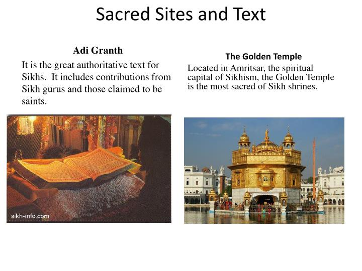 Sacred Sites and Text