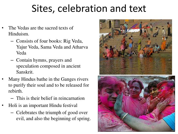 Sites, celebration and text