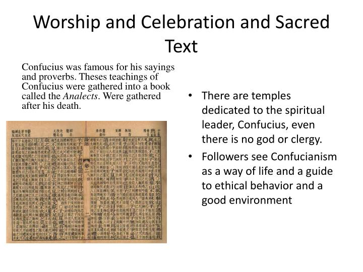 Worship and Celebration and Sacred Text