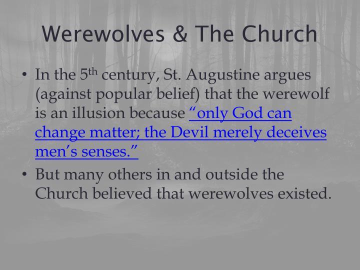 Werewolves & The Church