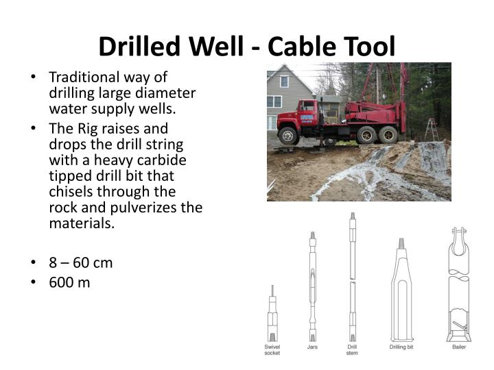 Drilled Well - Cable Tool