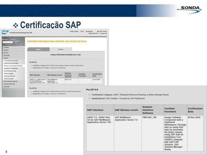 Certificação SAP