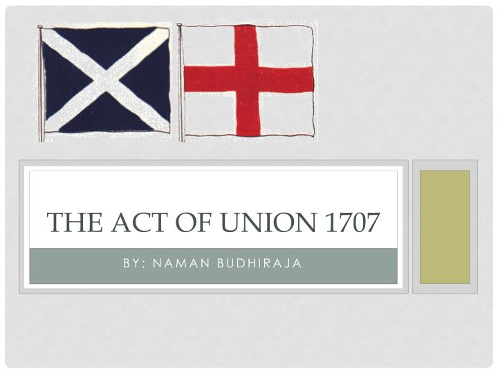 the act of union 1707 n.