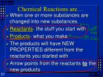 chemical reactions are