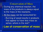 conservation of mass1