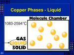 copper phases liquid