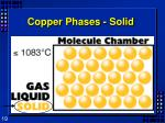 copper phases solid