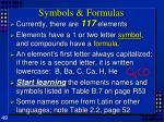 symbols formulas