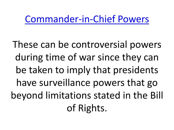 Commander-in-Chief Powers