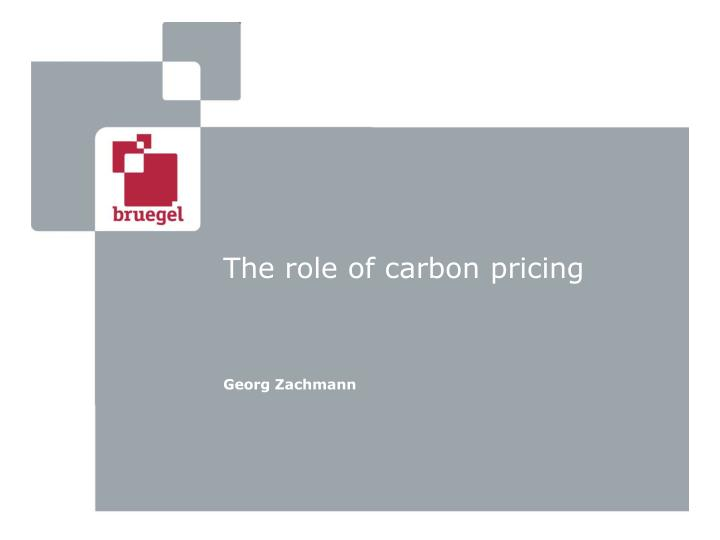 the role of carbon pricing n.