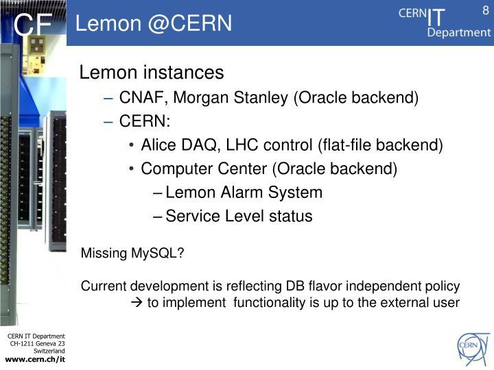 Lemon @CERN