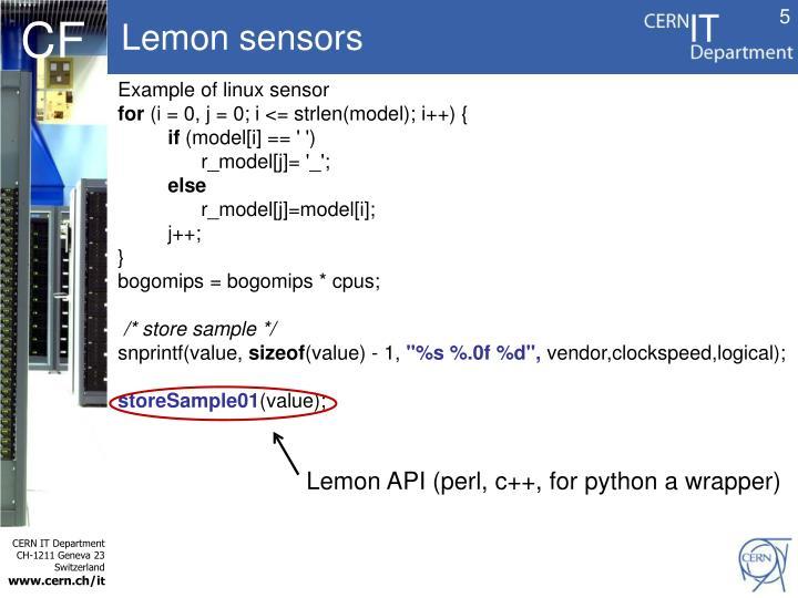 Lemon sensors