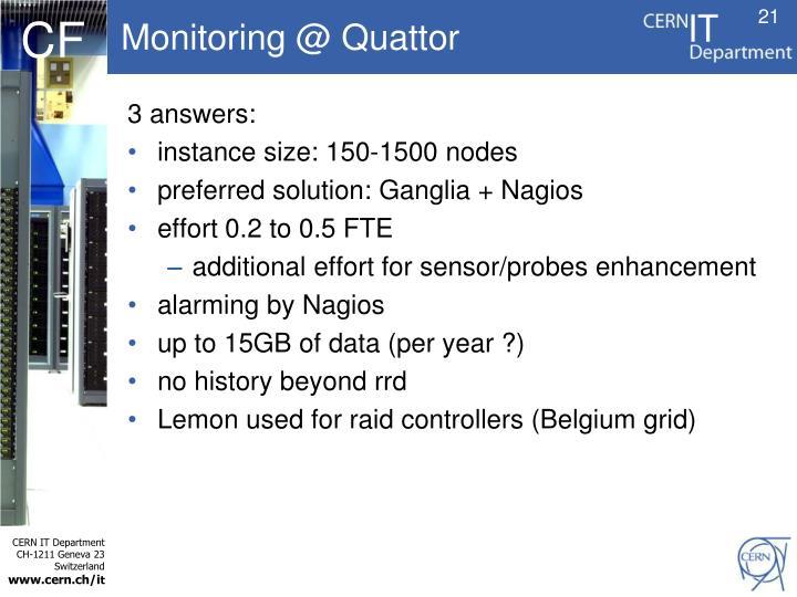 Monitoring @ Quattor